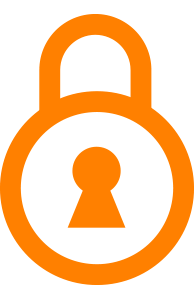 Icon of a lock that symbolizes security