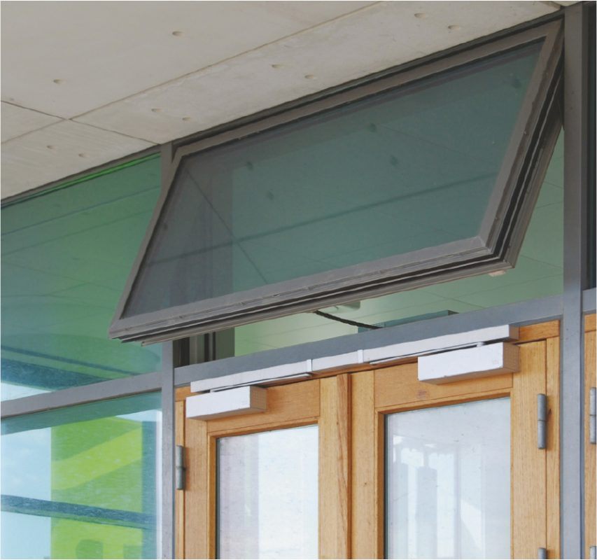 Image of windows with window actuators from WindowMaster