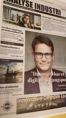 Image of the newspaper Børsen about products with Nabto technology from LS Control