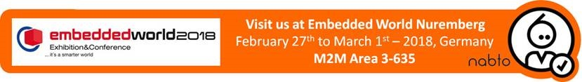 Information and logo of the exhibition Embedded World 2018