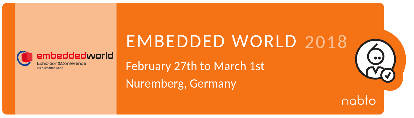 Logo and title of news about Embedded World 2018