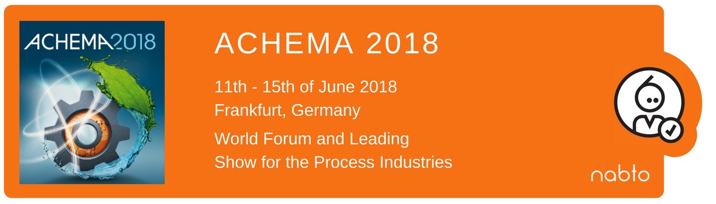 Information and logo of the exhibition ACHEMA 2018