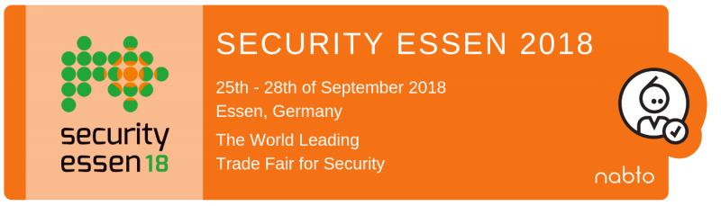 Information and logo of the exhibition Security Essen 2018