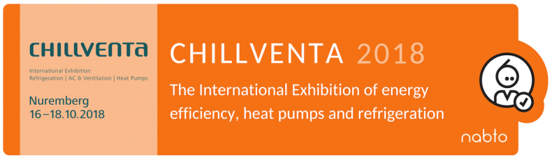 Information and logo of the exhibition Chillventa 2018