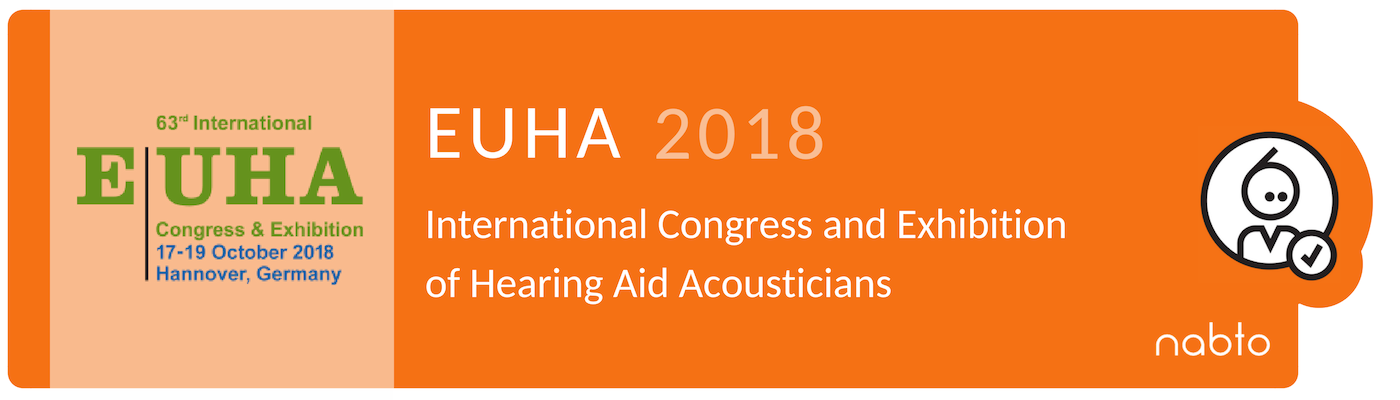 Information and logo of the exhibition EUHA 2018