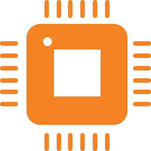 Icon of hardware / computer micro processor
