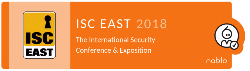 Information and logo of the exhibition ISC EAST 2018