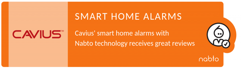 Title of the news about security alarms from nabtos customer, cavius