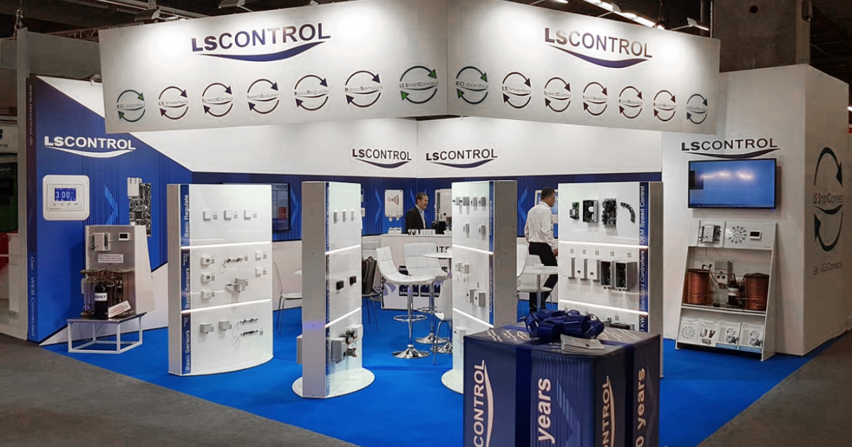 Image of LS Control's booth at ISH 2019