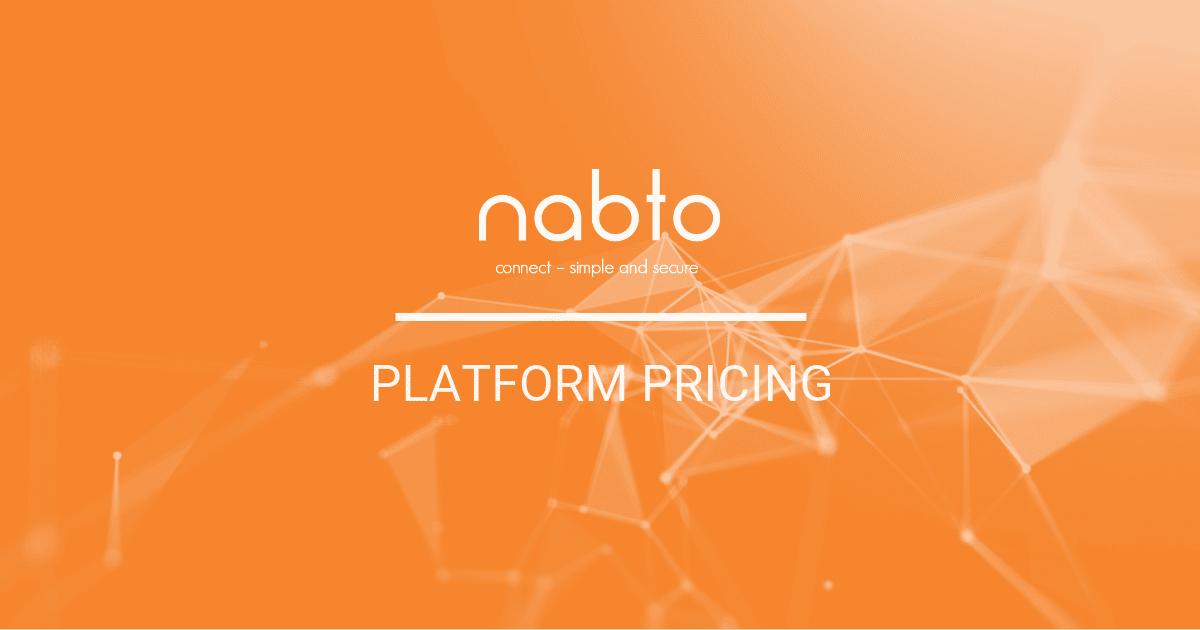 The Nabto Platform Pricing